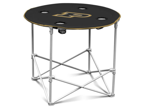 Purdue Boilermakers Logo Chair Round Folding Table