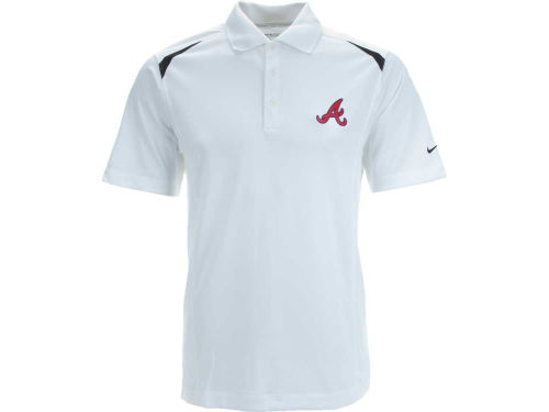Atlanta Braves Nike MLB Tech Core Color Block Polo