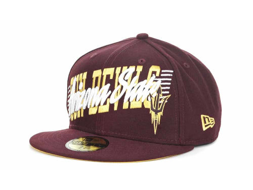 Arizona State Sun Devils New Era NCAA Writers Block 59FIFTY Hats