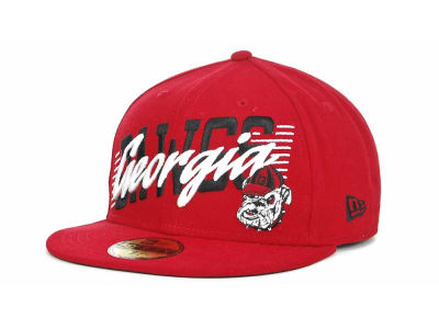 Georgia Bulldogs NCAA Writers Block 59FIFTY Hats