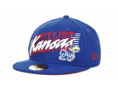 Kansas Jayhawks NCAA Writers Block 59FIFTY Hats