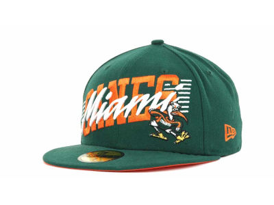 Miami Hurricanes NCAA Writers Block 59FIFTY Hats