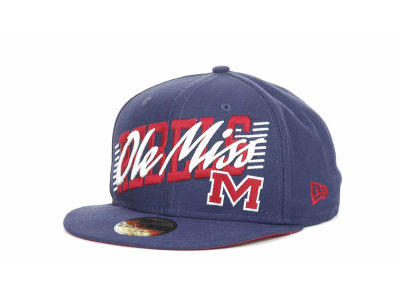 Mississippi Rebels NCAA Writers Block 59FIFTY Hats