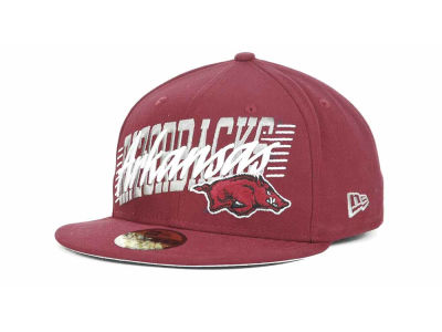 Arkansas Razorbacks NCAA Writers Block 59FIFTY Hats
