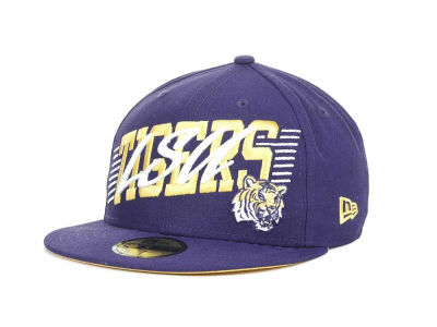 LSU Tigers NCAA Writers Block 59FIFTY Hats