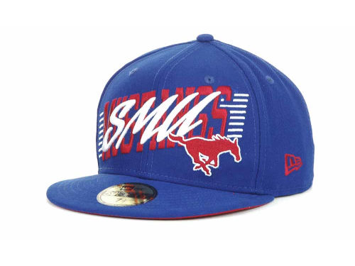 Southern Methodist Mustangs New Era NCAA Writers Block 59FIFTY Hats