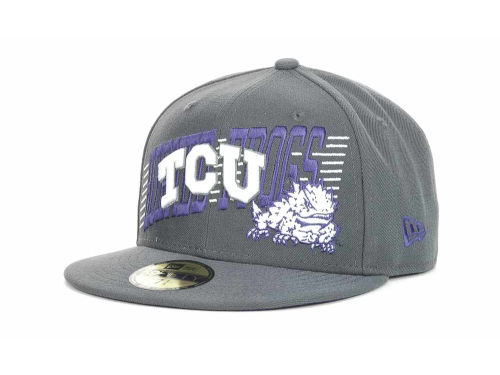 Texas Christian Horned Frogs New Era NCAA Writers Block 59FIFTY Hats