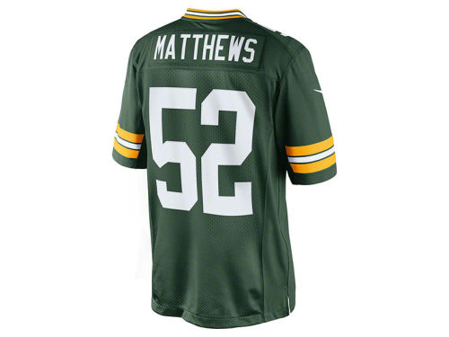 Green Bay Packers Clay Matthews Nike NFL Limited Jersey