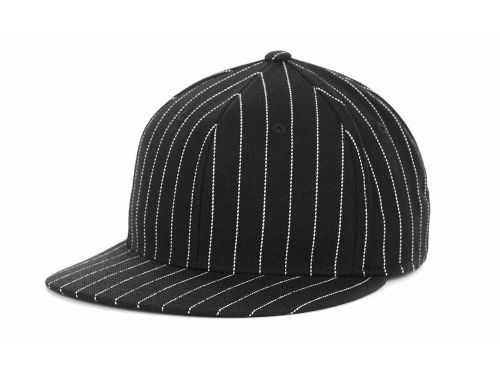 Top of the World Blank Pinstripe High Crown Fitted Hats
