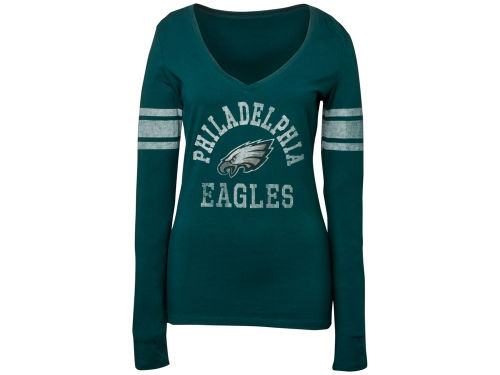 Philadelphia Eagles '47 Brand NFL Womens Homerun Long Sleeve T-Shirt