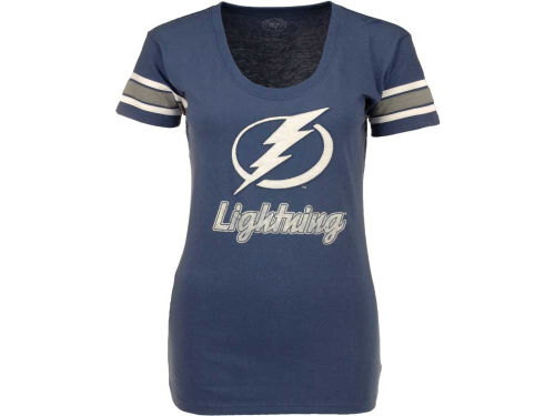Tampa Bay Lightning '47 Brand NHL Womens Off Campus Scoop Neck T-Shirt