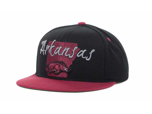 Arkansas Razorbacks Top of the World NCAA State Of Snapback Cap Hats