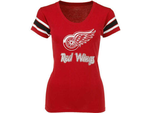 Detroit Red Wings '47 Brand NHL Womens Off Campus Scoop Neck T-Shirt