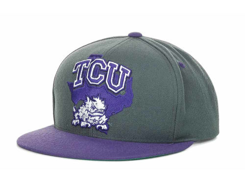 Texas Christian Horned Frogs Top of the World NCAA State Of Snapback Cap Hats