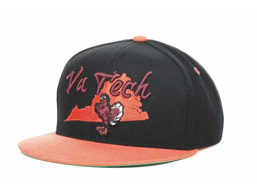 Virginia Tech Hokies Top of the World NCAA State Of Snapback Cap Hats