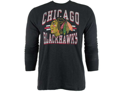 Chicago Blackhawks '47 Brand NHL Logo Scrum Long Sleeve T-Shirt