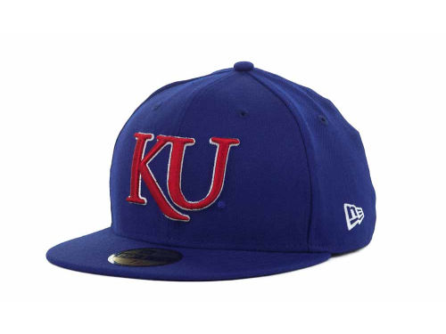 Kansas Jayhawks New Era NCAA AC Stock 59FIFTY Hats