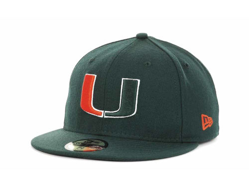 Miami Hurricanes New Era NCAA AC Stock 59FIFTY Hats