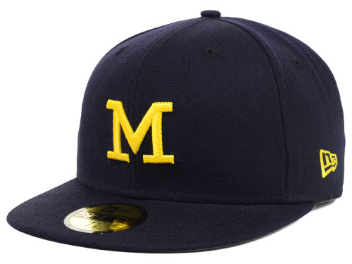 Michigan Wolverines New Era NCAA AC Stock 59FIFTY Cap Hats