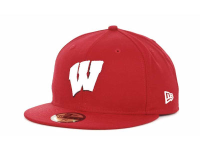 Wisconsin Badgers NCAA AC Stock 59FIFTY Hats