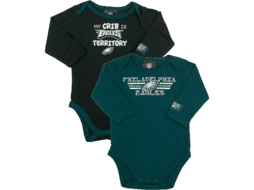 Philadelphia Eagles NFL Newborn Long Sleeve Bodysuit Set