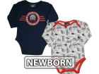 New England Patriots NFL Newborn Long Sleeve Bodysuit Set Infant Apparel
