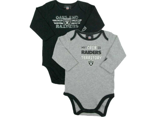 Oakland Raiders NFL Infant Long Sleeve Bodysuit Set
