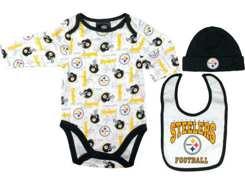 Pittsburgh Steelers NFL Newborn Bodysuit Hat Set