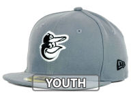 New Era MLB Youth Gray Black and White 59FIFTY Fitted Hats