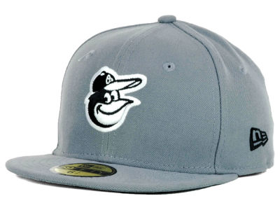 Baltimore Orioles MLB Youth Gray Black and White 59FIFTY Hats