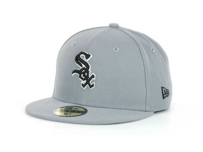 Chicago White Sox MLB Youth Gray Black and White 59FIFTY Hats