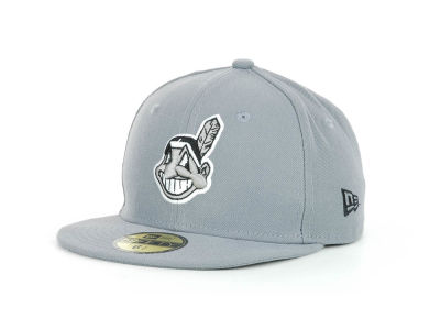 Cleveland Indians MLB Youth Gray Black and White 59FIFTY Hats