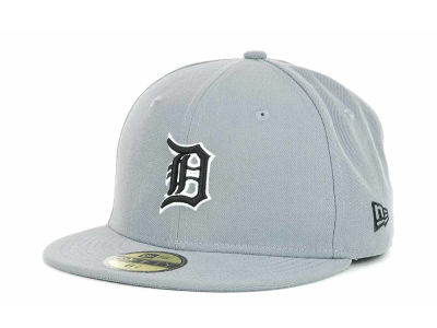 Detroit Tigers MLB Youth Gray Black and White 59FIFTY Hats