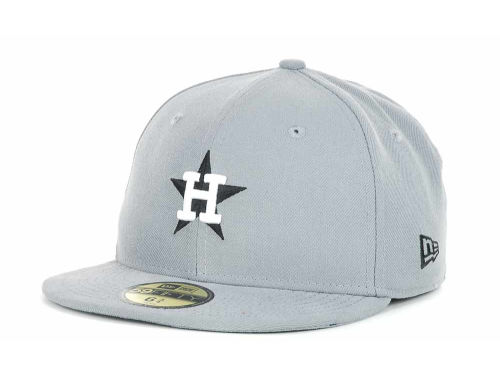 Houston Astros New Era MLB Youth Gray Black and White 59FIFTY Hats