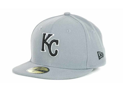Kansas City Royals MLB Youth Gray Black and White 59FIFTY Hats