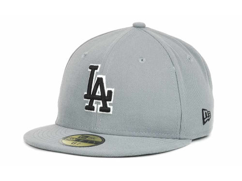 Los Angeles Dodgers New Era MLB Youth Gray Black and White 59FIFTY Hats
