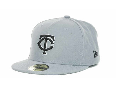 Minnesota Twins MLB Youth Gray Black and White 59FIFTY Hats