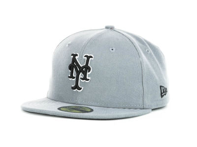New York Mets MLB Youth Gray Black and White 59FIFTY Hats
