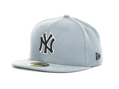 New York Yankees MLB Youth Gray Black and White 59FIFTY Hats