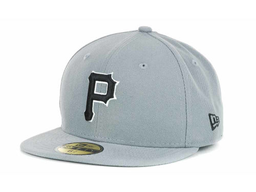 Pittsburgh Pirates New Era MLB Youth Gray Black and White 59FIFTY Hats