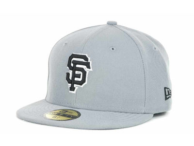 San Francisco Giants MLB Youth Gray Black and White 59FIFTY Hats