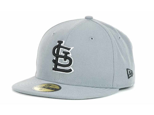 St. Louis Cardinals New Era MLB Youth Gray Black and White 59FIFTY Hats