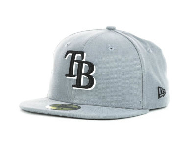 Tampa Bay Rays MLB Youth Gray Black and White 59FIFTY Hats