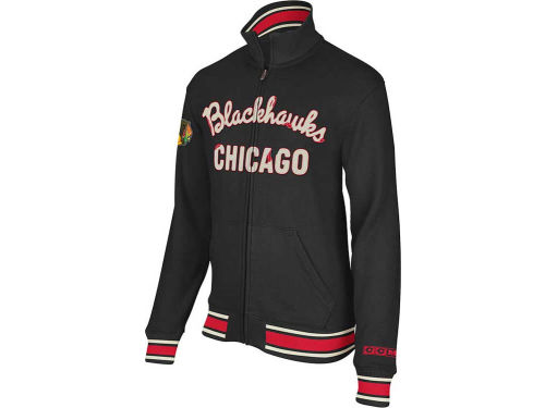 Chicago Blackhawks NHL CCM Fleece Track Jacket