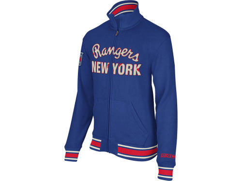 New York Rangers NHL CCM Fleece Track Jacket