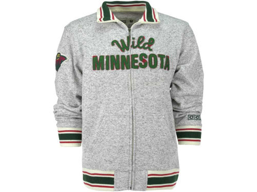 Minnesota Wild NHL CCM Fleece Track Jacket