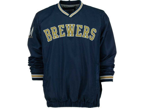 Milwaukee Brewers GIII MLB Wordmark Pullover Jacket