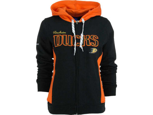 Anaheim Ducks Reebok NHL Womens Core Full Zip Hoodie