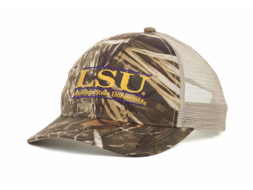 LSU Tigers Camo Mesh Bar Hats