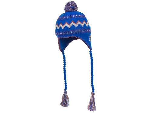 Kansas Jayhawks Adidas Child Pom Knit Hats
